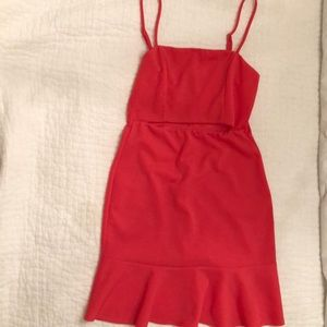 Hot Pink Cut-Out Dress